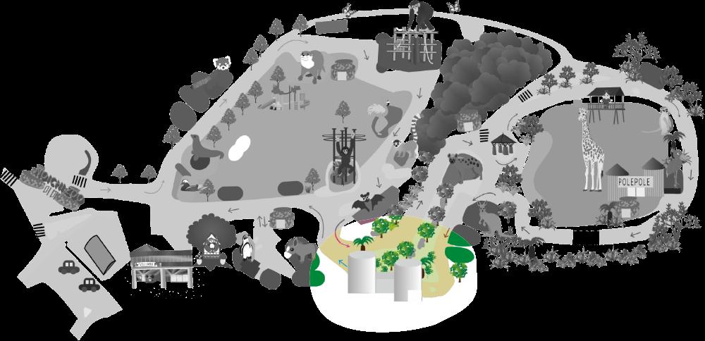 ジャングルミュージアム地図